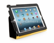 Чехол для iPad 3 и iPad 4 Capdase Folder Case Folio Canvas, цвет black (FCAPIPAD3-P31E)