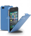 Кожаный чехол для iPhone 5 / 5S Melkco Premium Leather Case - Jacka Type, цвет Blue LC