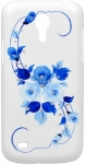 Пластиковый чехол-накладка для Samsung Galaxy S4Mini (i9190) iCover Vintage Rose, цвет white/blue (GS4M-HP/W-VR/BL)